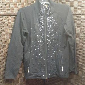 Belldini rhinestone zip up hoodie
